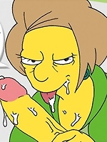 Mrs. Krabappel getting abused and getting her pussy filled